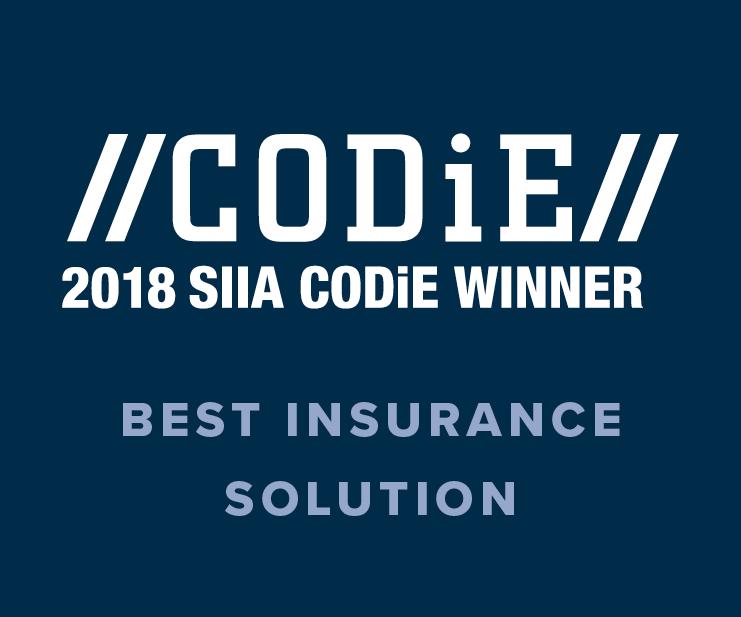 2018 SIIA CODIE Best Insurance Solution Award Winner Image