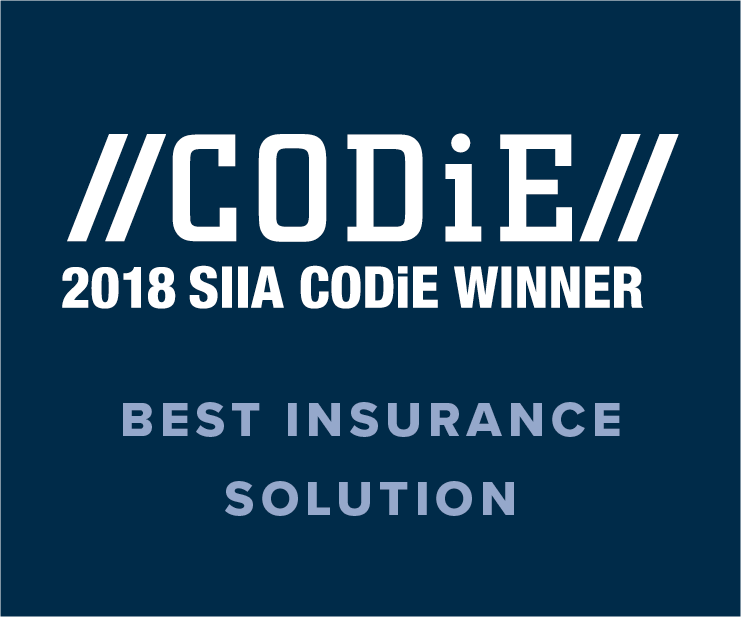 2018 SIIA CODIE Best Insurance Solution Award Winner Image