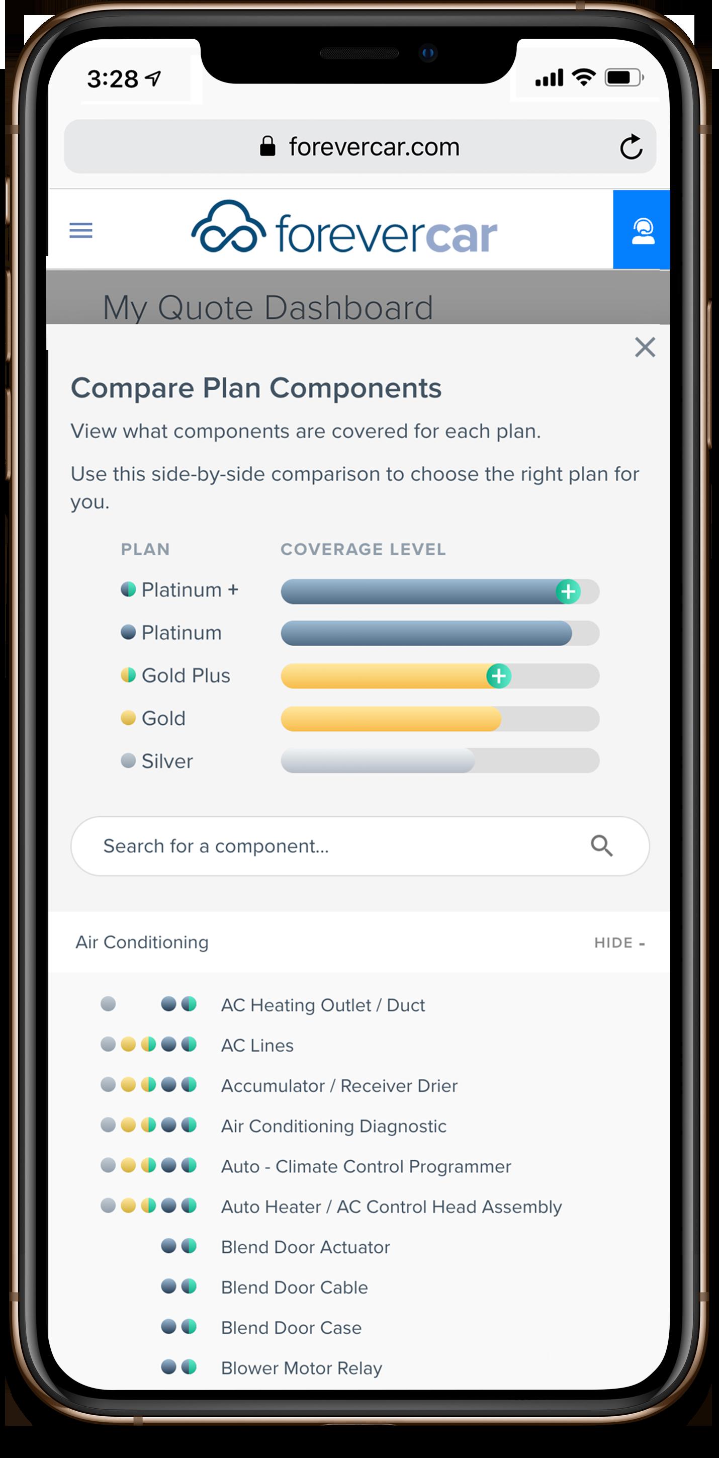 ForeverCar Plan Level Screenshot
