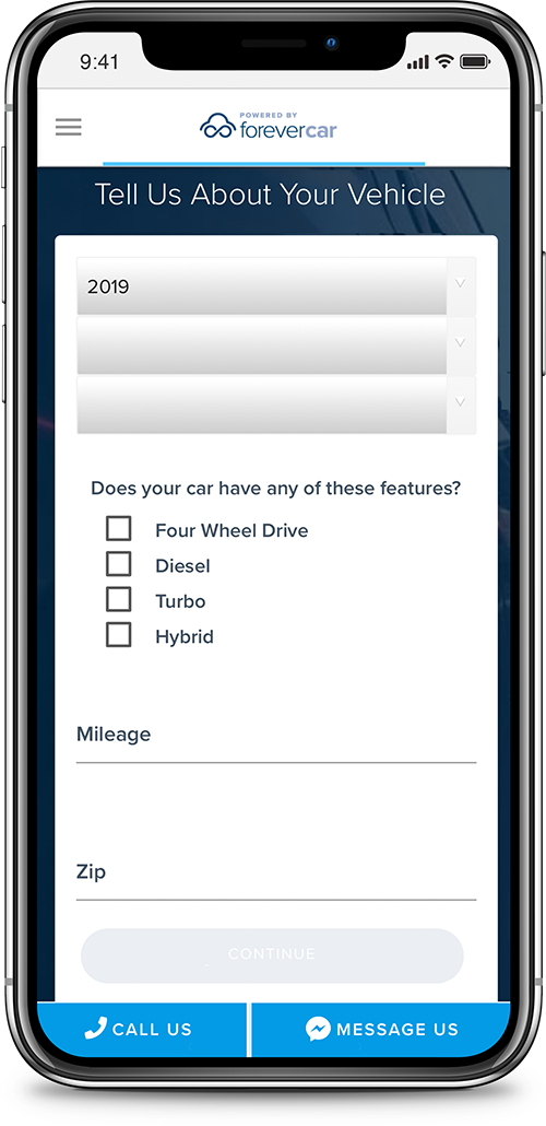 ForeverCar Get a Quote Screenshot