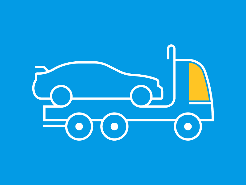 Tow truck road side assistance graphic