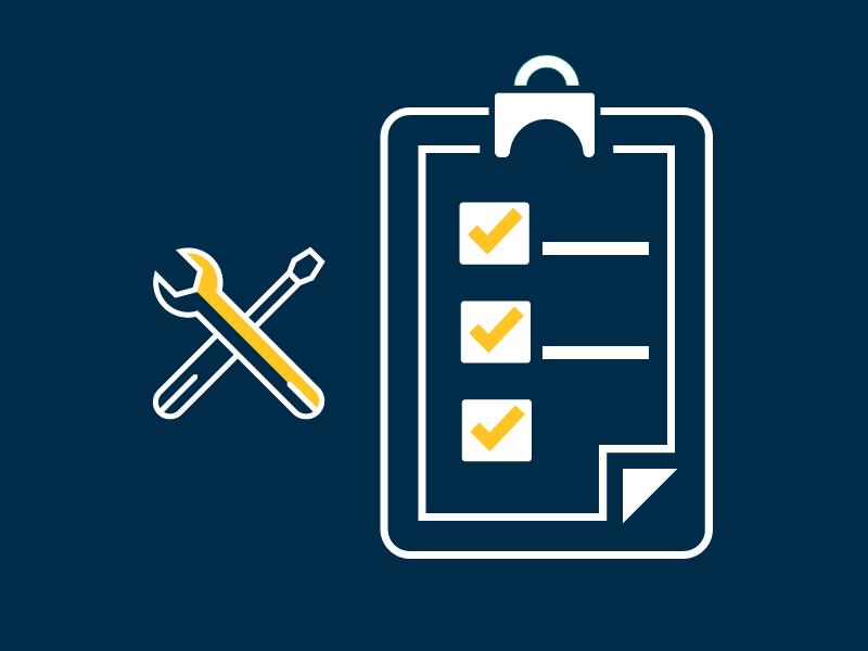 Repair checklist graphic